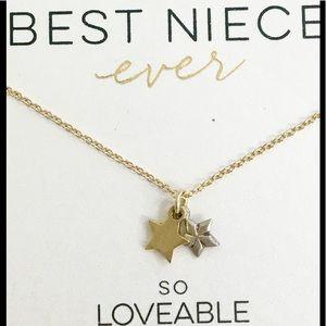 Pretty NWOT Dogeared Best Niece Star ⭐️ necklace!